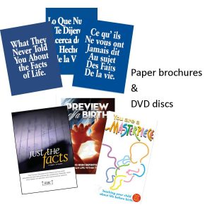 Brochures and DVDs
